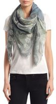 Alexander McQueen Waterlily and Flyes Shawl