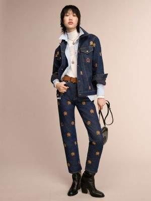 Tommy Hilfiger Crest Embroidery Straight Fit Jeans