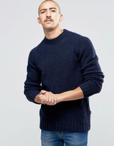 Barbour Jumper In Donegal Wool In Navy