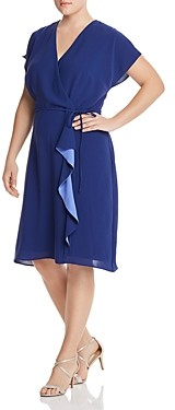 Adrianna Papell Plus Faux-Wrap Dress