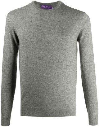 Ralph Lauren Purple Label Long-Sleeved Ribbed Knit Sweater
