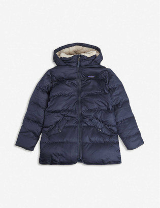 Patagonia Logo-patch down parka jacket 5-14 years