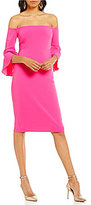 Laundry by Shelli Segal Off-the-Shoulder Crepe Dress