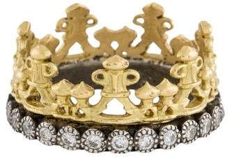 Armenta 18K Midnight Diamond Crown Ring