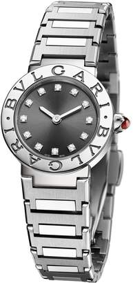 Bvlgari Stainless Steel and Diamond Lady Watch 23mm