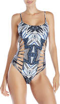 Red Carter One-Piece Side Cutout Swimsuit