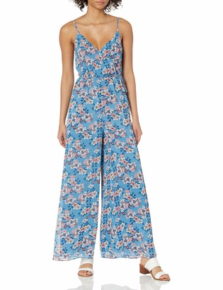Ali & Jay Women's Lily Pond Flared Wrap Top Sleeveless Jumpsuit