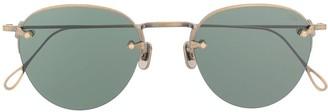 Eyevan 7285 Rimless Round Frame Sunglasses