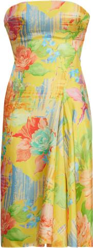 Thumbnail for your product : Ralph Lauren Jaylin Floral Silk Cocktail Dress