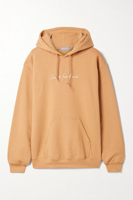 PARADISED Embroidered Cotton-blend Jersey Hoodie - Beige