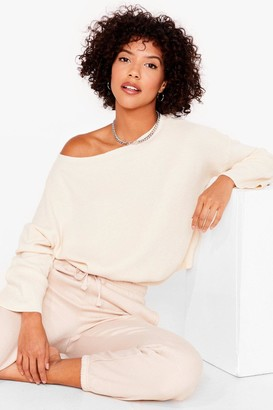 Nasty Gal Womens Knit's on the Agenda Relaxed Lounge Sweater - Cream