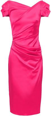 Talbot Runhof Gathered Duchesse-satin Dress