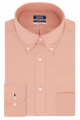 Izod Men's Dress Shirts Regular Fit Stretch Gingham