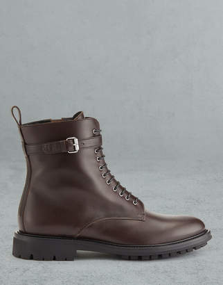 Belstaff FINLEY LEATHER ANKLE BOOTS Brown UK 2 /