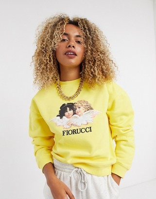 Fiorucci vintage angels sweatshirt in yellow