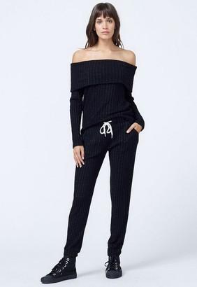 Monrow Women's Off Shoulder Long Sleeve Top