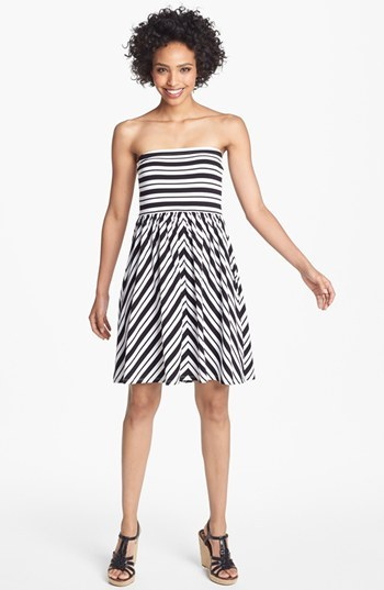 Nordstrom FELICITY & COCO Stripe Jersey Dress Exclusive)