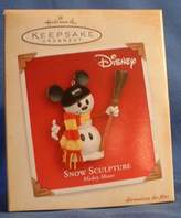Hallmark Snow Sculpture Mickey Mouse 2004 Keepsake Ornament