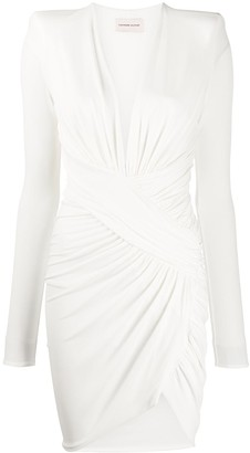 Alexandre Vauthier Draped Asymmetric Hem Dress