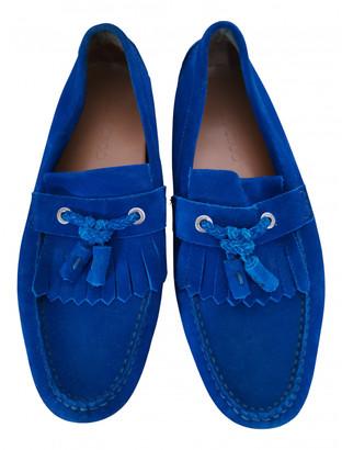 Jimmy Choo Blue Suede Flats