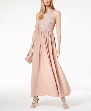 Morgan & Company Sequined Lace Gown