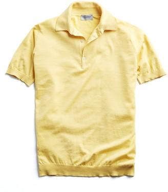 John Smedley Sea Island Cotton Polo in Yellow