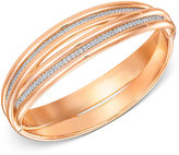 Swarovski Rose Gold-Tone Interlocking Pavé Crystal Bangle Bracelet