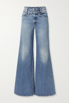 Frame Le Palazzo High-rise Wide-leg Jeans - Mid denim