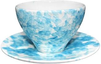 The Mill Ceramics Tea Cup & Saucer - Sky Blue | Speckle