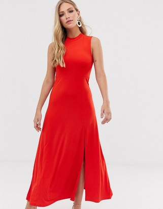 Y.A.S high neck maxi dress
