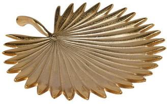Biba Large Gold Palm Decorative Dish