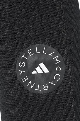 adidas by Stella McCartney Cropped Printed Stretch-jacquard Top