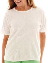 Alfred Dunner Ocean Drive Short-Sleeve Sweater Shell