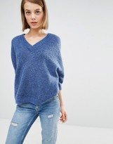 Selected Liva Chunky Sweater with Cropped Sleeves
