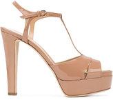 Sergio Rossi patent open toe sandals
