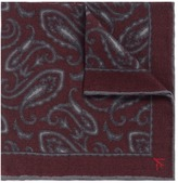 Isaia Paisley print gauze pocket square