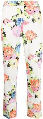 Blumarine Floral Print Trousers