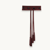 Maje Leather tie belt with cabochons