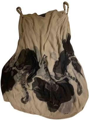 Thomas Wylde Beige Silk Dress for Women