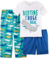 Carter's 3-Pc. Whale-Print Pajama Set, Toddler Boys