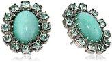 "Sorrelli African Violet"" Oval Semi-Precious Encrusted Post Stud Earrings"
