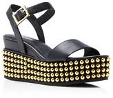 Delman Angie Studded Ankle Strap Platform Sandals