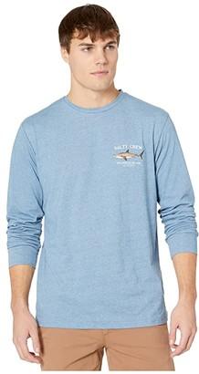 Columbia Salty Crew Bruce Tech Long Sleeve Tee Blue) Men's T Shirt