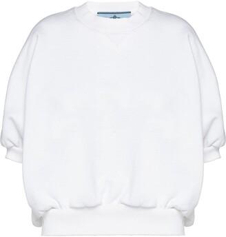 Prada fleece puff-style T-shirt