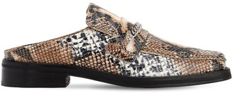 Martine Rose 35MM SNAKE EMBOSSED LEATHER MULE LOAFERS