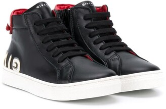 Givenchy Kids high-top logo print sneakers