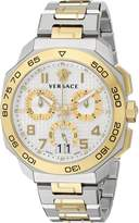 Versace Men's Dylos Chrono VQC03 0015 Stainless Steel/Yellow Gold Watch