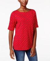 Karen Scott Dot-Print Top, Only at Macy's