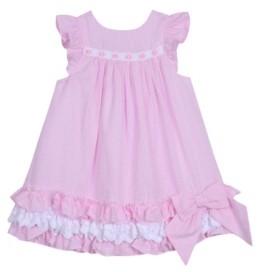 Laura Ashley Little Girls Ruffle Hem Dress