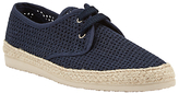 Kin by John Lewis Woven Lace Up Espadrilles, Navy
